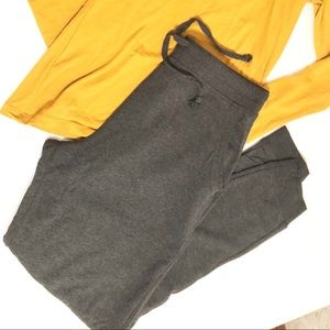 Dark gray  jersey jogger pants By Ambiance